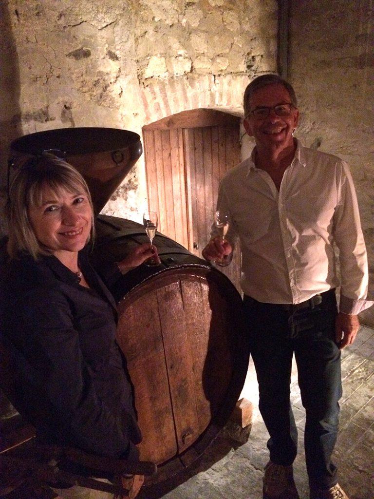 La cave du Champagne Beaudouin-Latrompette